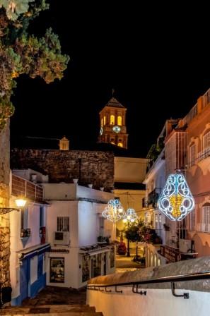 Casco antiguo nocturno