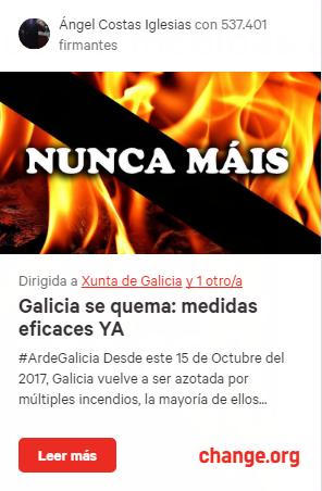 2017-10-17 03_03_27-Petición · Xunta de Galicia_ Galicia se quema_ medidas eficaces YA · Change.org