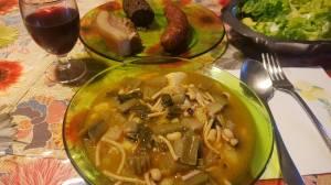 Potaje de chícharos con verduras